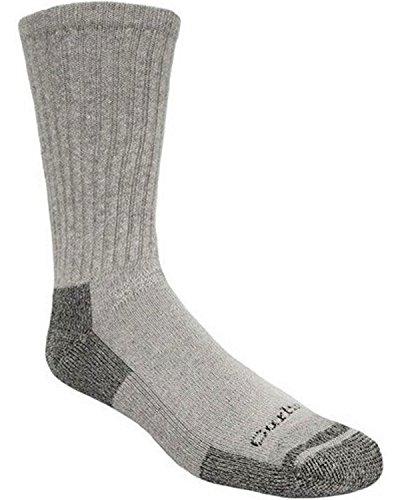 Carhartt Men's 3-Pack Standard All-Season Cotton Crew Work Socks, gray, Shoe Size: 11-15