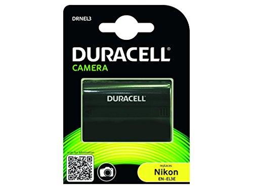 Duracell DRNEL3 Batteria per Nikon EN-EL3, EN-EL3a, EN-EL3e, 7.4 V, 1400 mAh, Nero