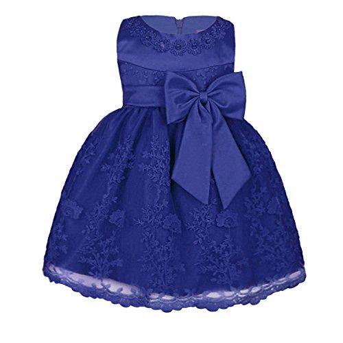 TiaoBug Babykleider Mädchen festlich Baby Kleid Taufkleid festlich Prinzessin Party Kleid Festzug Kleidung 68 74 80 86 92 (86-92 (Herstellergröße: 18M), Blau)