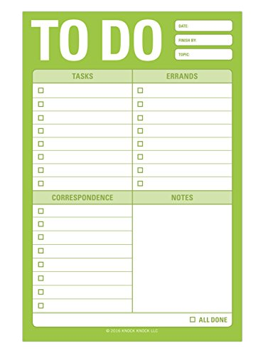 Knock Knock to Do Great Big Sticky Note, Large to-Do List Sticky Pad, 4 x 6-inches Photo #3