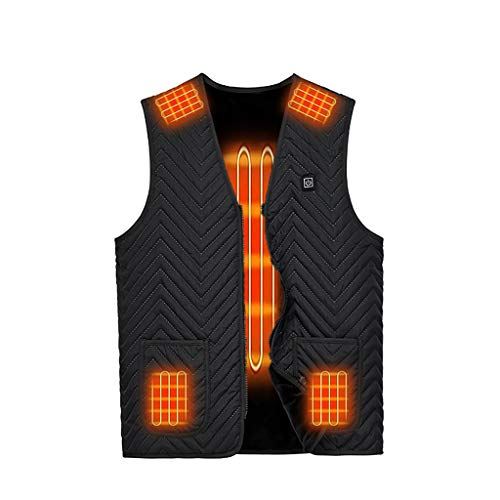 Heated Vest, Lightweight Heating Jacket USB Electric Body Warmer Clothes for Men and Women