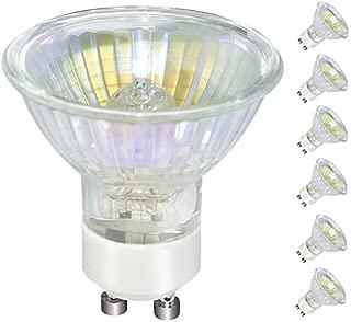 Halogen Bulb, 6 Pack GU10 50W 120V, MR16 Gu10 Base, Halogen GU10+C Light Bulb with 3000 Hours Long Lasting Life -Warm Light