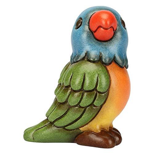 THUN - Pappagallo Arcobaleno - Formato Piccolo - Ceramica - 8,5 cm h