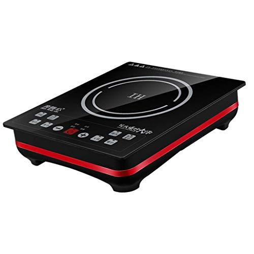 Placas calientes Cocina de inducción portátil 3000W, panel de cristal negro simplificado, resistencia a la abrasión y arañazos, estufa eléctrica portátil, control táctil del sensor, temporizador 1yess