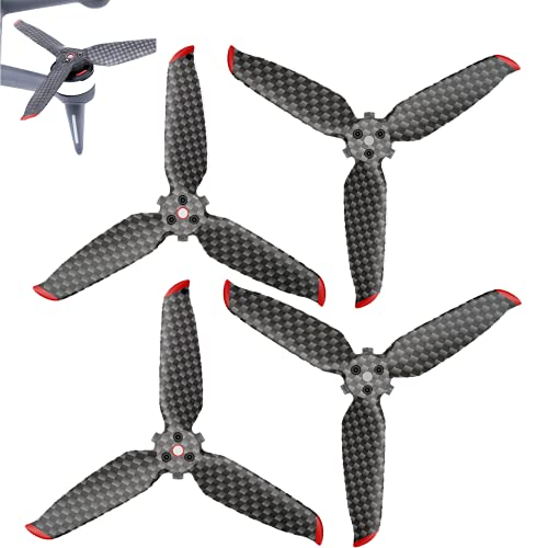 HYGJ Prodrocam - 2 paia di eliche in fibra di carbonio per DJI FPV, Drone eliche a sgancio rapido, silenziatore propellers-elice a 4 pale Drone Prop (2 paia)