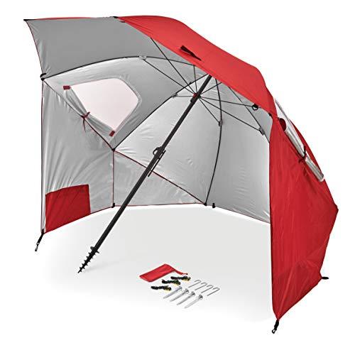 Sport-Brella Premiere XL UPF 50+ Umbrella Shelter for Sun and Rain Protection (9-Foot, Red), Model:BRE01-XL-025-02