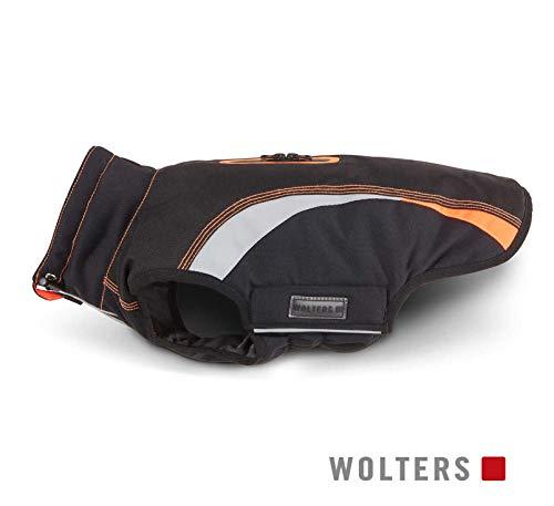 Wolters Outdoorjacke Hundemantel Xtra Strong schwarz/grau mit neon-orange