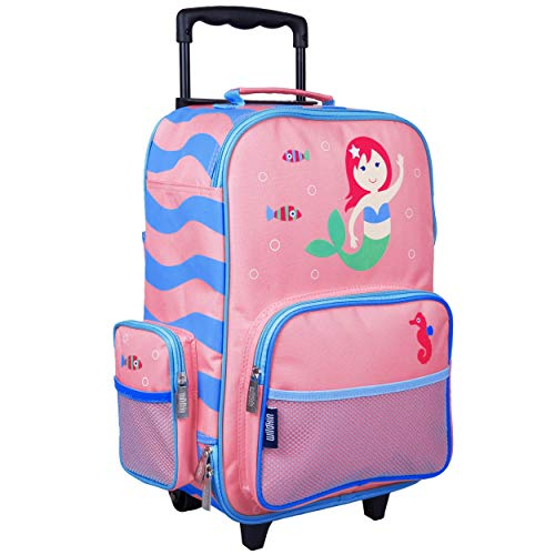 Wildkin Kids Rolling Suitcase For Boys And Girls, Luggage Is Carry-On Size And Perfect For Overnight Travel, Patterns Coordinate With Our Nap Mats And Duffel Bags