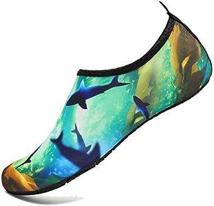 BOLOG Zapatos de Niño Zapatos de Agua de Natación Infantil para Niños Niñas Adolescentes Slip on Suave Descalzo Aqua Calcetines para La Piscina de Playa Surf Yoga Mujeres