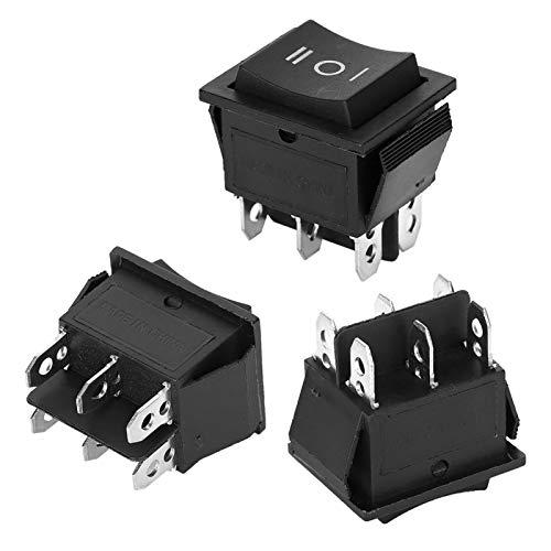 KUIDAMOS Mini interruptores basculantes de 6 Pines, pequeños y prácticos Altavoces de computadora prácticos para el Interruptor de electrodomésticos KCD4