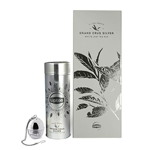 Lipton Premium Tee Geschenkset mit Weißem Tee in Teedose, Teesieb und Geschenkbox (loser Tee, 1 x 45g)