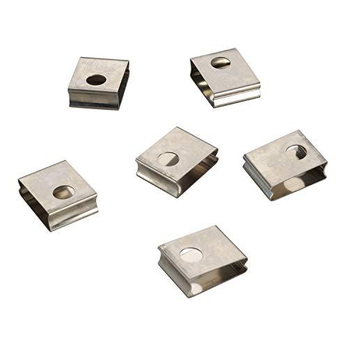 SLV 3 Phasen System EUTRAC Federclip für 3 Phasen Einbauschiene ( 6er Pack ) / grau
