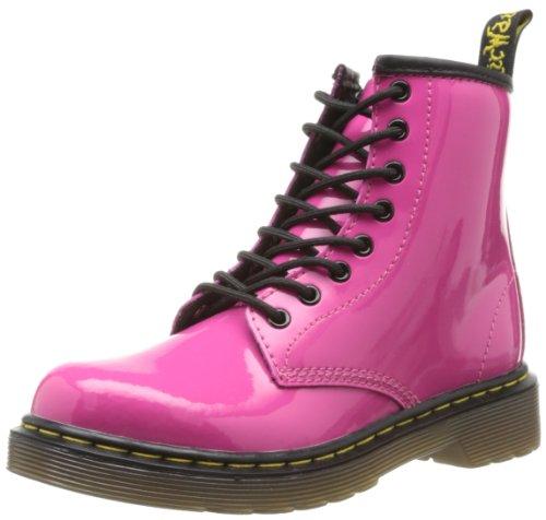 Dr. Martens DELANEY Patent RED, Mädchen Bootschuhe, Rosa (Hot Pink) , 36 EU ( 3 UK )