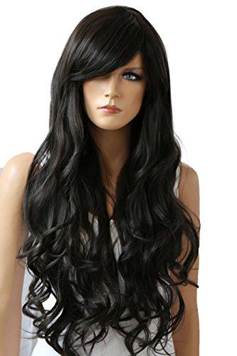 PRETTYSHOP Unisexe Perruque Pleine Cheveux Longs Fibres Synthétiques Résistant à La Chaleur Ondulé Volumineux chocolat brun # 4 FS836r