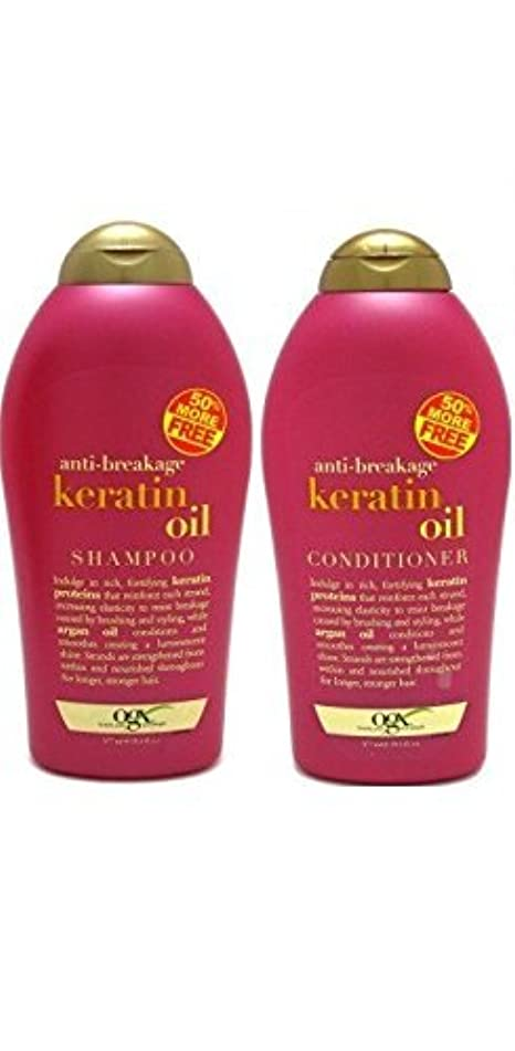 OGX Anti-Breakage Keratin Oil Shampoo + Conditioner (19.5oz)