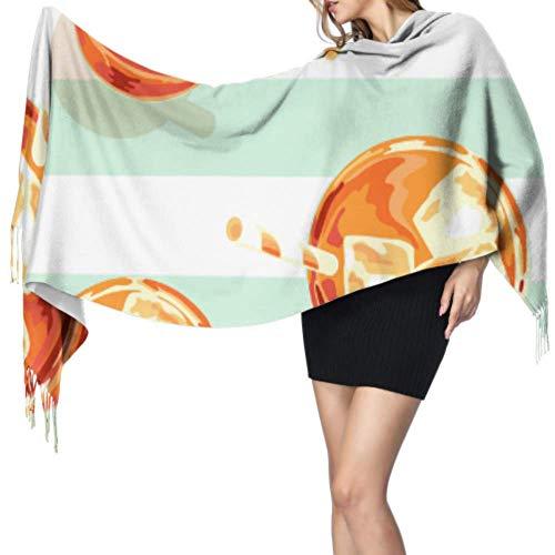Foulard à franges pour femme - Acide citrique doux et doux - 196 x 68 cm