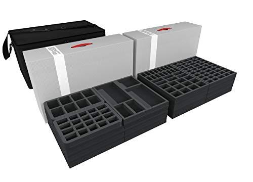 Feldherr Transporter mit 2 XL Lagerboxen kompatibel mit über 540 Zombicide Figuren und Zubehör