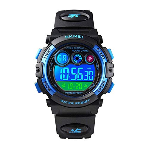 Watch for Boys 4-12 Year Old, Black Kids Digital Sports Waterproof Watches with Alarm Stopwatch, Children Outdoor Analog Electronic Watches Birthday Presents Gifts for Age 4-12 Year Old Boys Girls