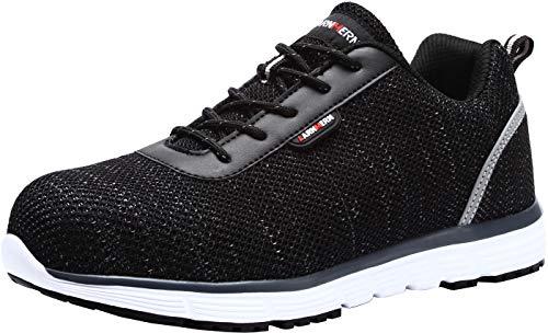 LARNMERN Zapatos de Seguridad Hombres LM30 S1 SRC Zapatillas de Trabajo con...