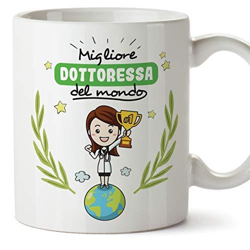 Mugffins Dottoressa Tazze Originali di caffè e Colazione da Regalare Lavoratori e Professionisti - Migliore Dottoressa del Mondo - Ceramica 350 ml
