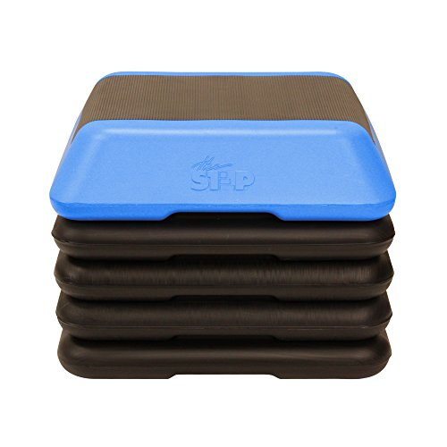 The Step High Step Aerobic Exercise Nonslip Platform Includes 4 Risers and...
