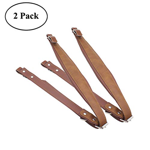 2-Pack Soft Thicken PU Leather Accordion Shoulder Harness Straps Adjustable&Durable Accordion Belt Set for 16-120 Bass Accordions Musical Instrument Accessories