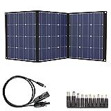TISHI HERY 100W Solar Panel Portable Solar Charger Kit 18V 12V Foldable Solar...