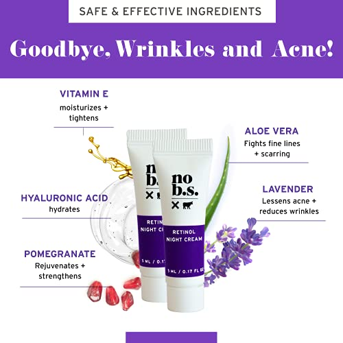 41nckF3vSJS. SL500  - No B.S. Caffeine Eye Cream anti aging bundle with Two Retinol Deluxe Minis. Under Eye Cream for Dark Circles and Puffiness. Includes Retinol Eye Cream for Wrinkles.