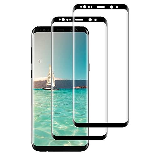 FayTun Protector de Pantalla para Samsung Galaxy S9 Plus, Vidrio Templado, 3D Curvado Completa Cobertura, Alta Definicion, 9H Dureza, Antiarañazos, Antihuellas, Sin Burbujas, 2 Piezas
