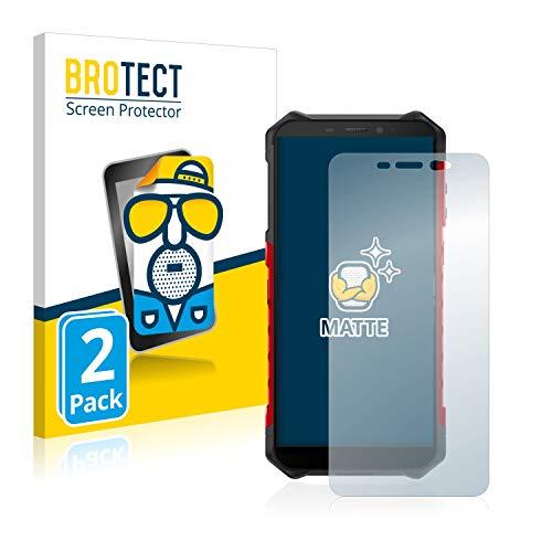 BROTECT 2X Entspiegelungs-Schutzfolie kompatibel mit Ulefone Armor X5 Bildschirmschutz-Folie Matt, Anti-Reflex, Anti-Fingerprint