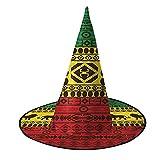 Lion Rasta Jamaica africana patrón tradicional Halloween Bruja Sombreros Cosplay Favors Accesorio de disfraz para fiesta mago Cap
