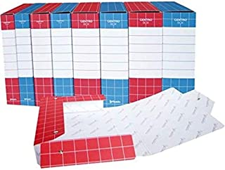 Blu Modello Centro Box Resisto RES0708.BL Cartella Progetti con Bottoni Dorso 8