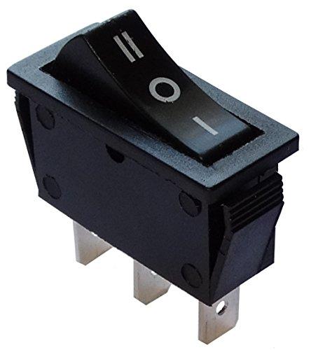 Aerzetix: Knopfschalter Switch Kippschalter Druckschalter SP3T ON-OFF-ON 15A/250V Schwarz 3 Positionen