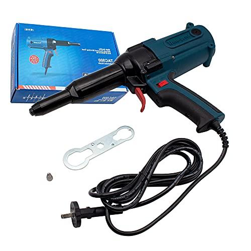 Remachador de Electricidad 220V, Pistola Remachadora Pistola de Clavos 400W 8000N Carrera 22mm TAC500 (TAC500)