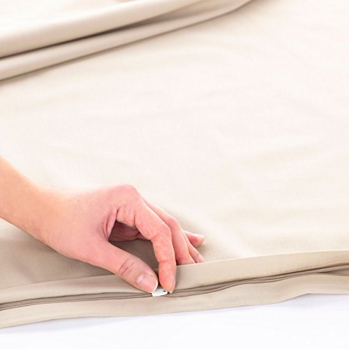 Linum Home Textiles Pera Solid Duvet Cover 100% Authentic Turkish Cotton Luxury Spa Hotel Collection, Warm Sand, Queen