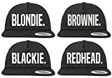 Youth Designz Gorra de béisbol Blondie Brownie Blackie Redhead Redhead Talla única