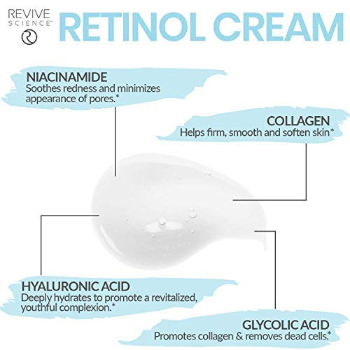 41ncmL9xBdL - Revive Science Retinol Cream & Anti Aging Face Moisturizer - Clinically Proven Wrinkle Cream for Face with Retinol, Hyaluronic Acid, Vitamin C, Collagen - Face Cream for Women And Men - NET 1.7 FL OZ
