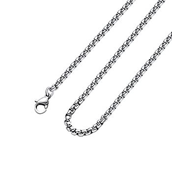 2mm 16 To 38In Stainless Steel Rolo Chain Necklace Crude Round Square Box Cable Wheat Necklace for Men Women Jewelry