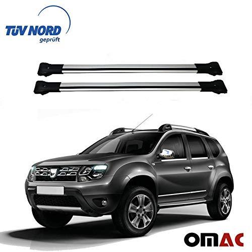 OMAC GmbH - Barre portapacchi in alluminio grigio con certificazione TÜV ABE