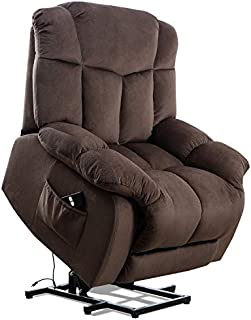 Power Lift Recliner Chair for Elderly, Mechanism-Antiskid Fabric Sofa Heavy Duty and Safety Motion Reclining Living Room Chair with Overstuffed Design, Chocolate