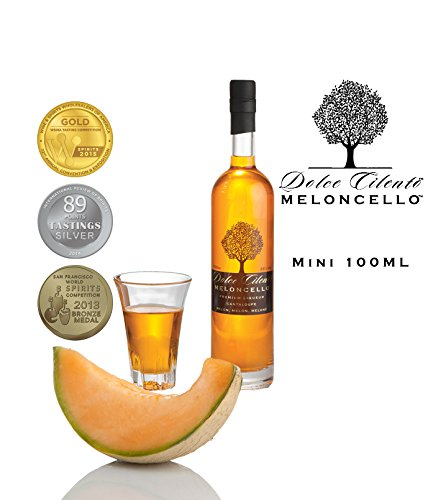 Meloncello Licor 100ml- Dolce Cilento Licor de Melón Italiano (3 Medallas)