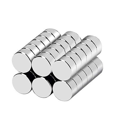 Neodym Magnete, Bukm 10 * 3mm Extrem Stark Magnete 36 Stücks für Kühlschrank, Glas Magnetboards, Magnettafeln
