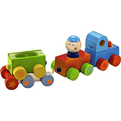 HABA Habatown All Aboard Wood Magnetic Stacking Train Toy from Haba