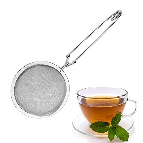 Westmark Großes Klappsieb/Tee-Sieb, Durchmesser: 7,5 cm, Rostfreier Edelstahl, Teatime, Silber, 15352270