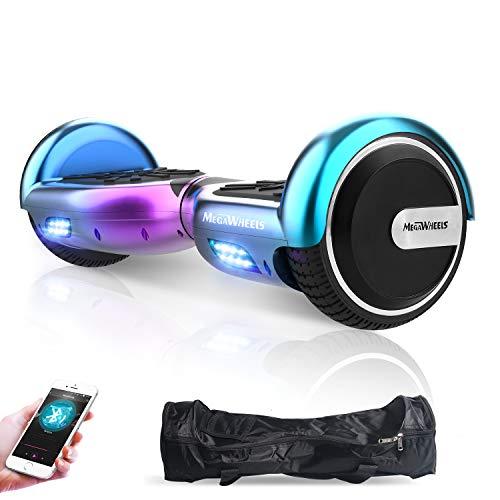 M MEGAWHEELS Hoverboard, Patinete electrico Auto Equilibrio 6.5 Pulgadas con Bluetooth, Fuerte...