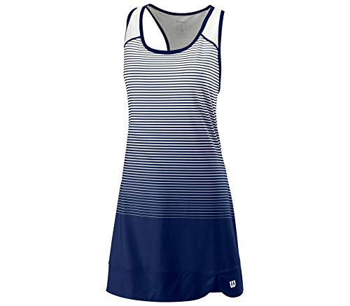 Wilson W Team Match Dress Vestido, Mujer, Blue Depths/White, M