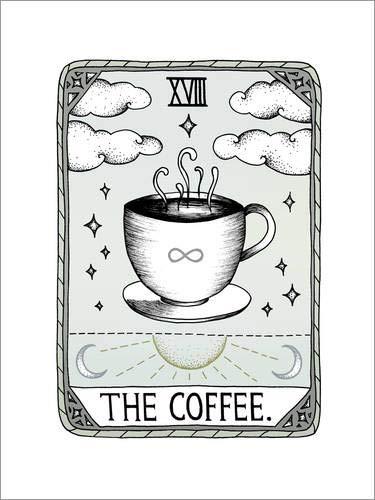 Poster 50 x 70 cm: The Coffee von Barlena - hochwertiger Kunstdruck, neues Kunstposter