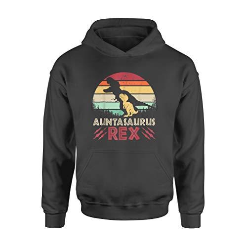 Vintage Aunta.Saurus Rex Dinosaur Family T Shirt - Sudadera estándar - Sudadera con capucha frontal para hombres y mujeres.