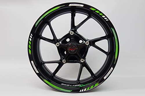 Jante randauf Colle 710001 Rim Stripes GP style – Racing 1000 Green – Kit complet – Pour 16 \