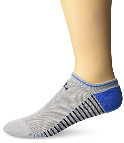 adidas Golf Men's Single Performance No Show Sock, Grey Two/True Blue, 11 - 14